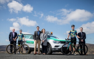 Cyclist with Europcar