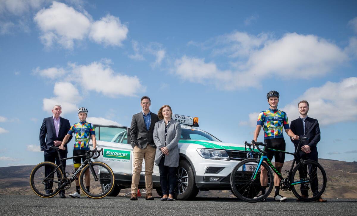 Cyclist with Europcar