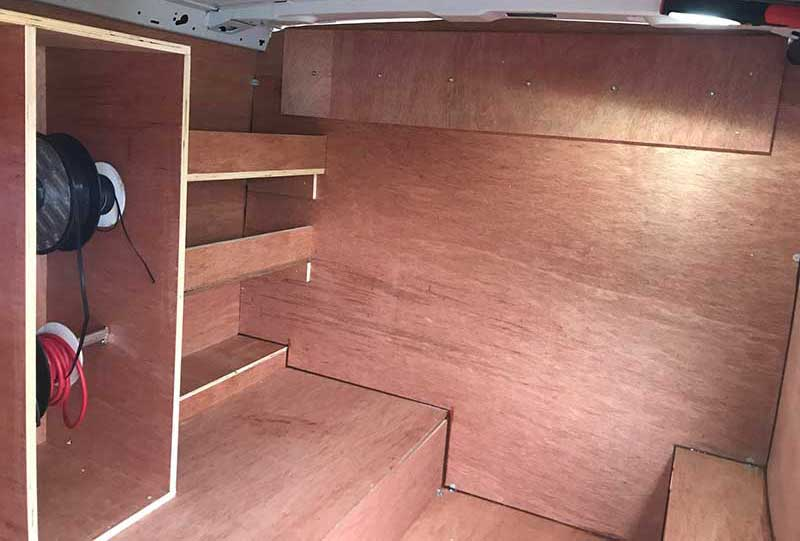 customized van interior