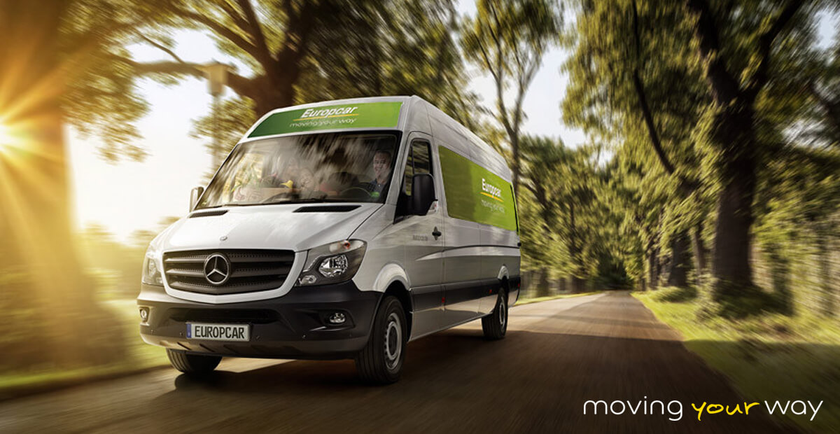 Europcar car van been driven