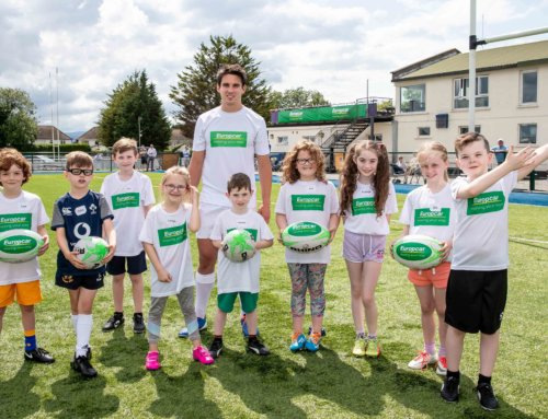 Europcar ambassador Joey Carbery spends a day with the stars of tomorrow